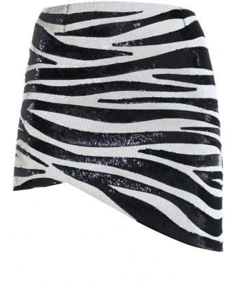 Zebra Sequins Skirt