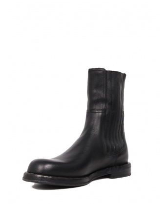 Leather boot black