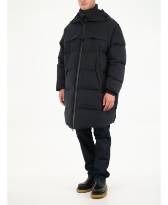 Black padded down jacket