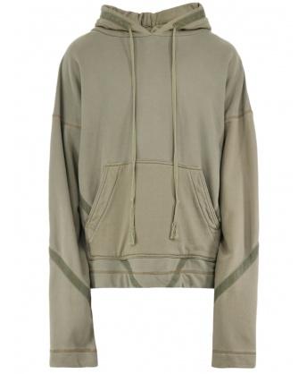 Military green oversize sweatshirt
