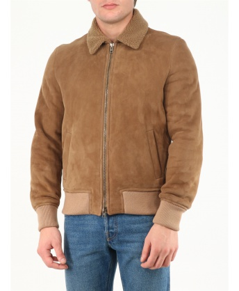 Suede and shearling jacket