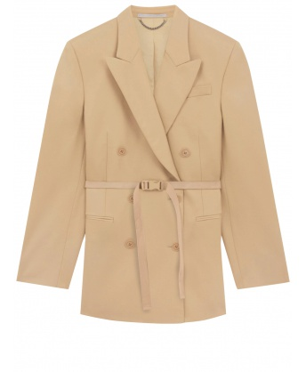 Double-breasted tailored wool jacket