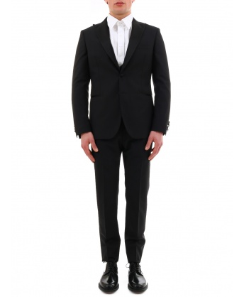 Black mohair wool suit