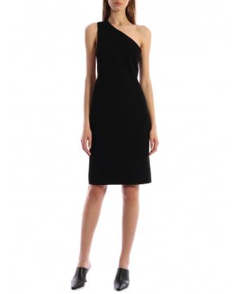 One-shoulder Dress Black