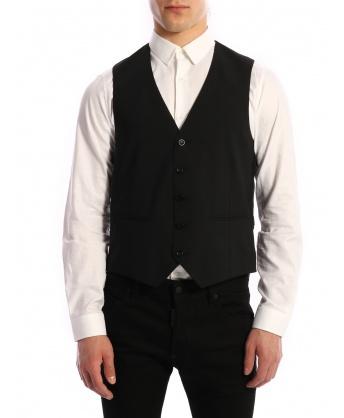 Wool Vest Black