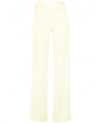 Light green jersey trousers