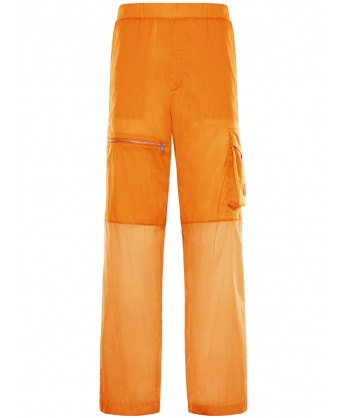 Nylon sweatpants ocra yellow