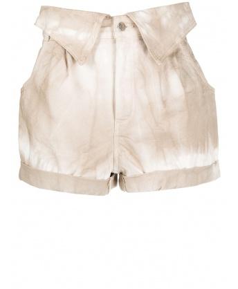 Tie dye cotton shorts