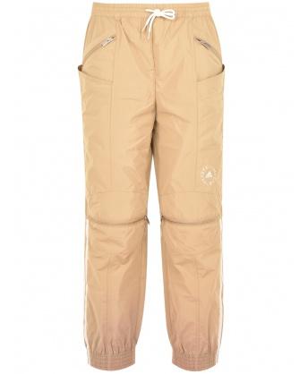 Beige sports trousers