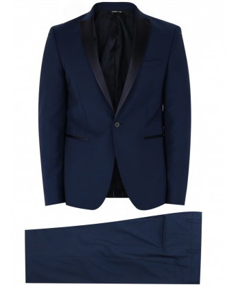 Two-piece blue wool tuxedo